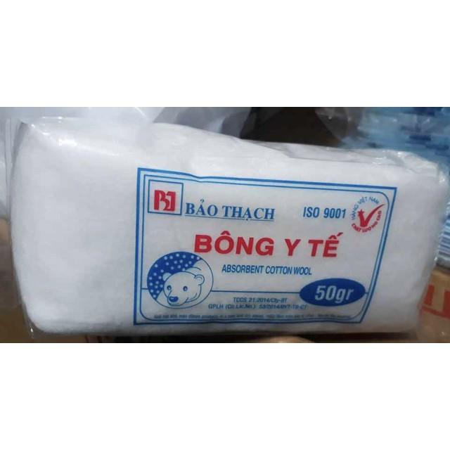 Bông gòn 50g (Bông Y Tế 50g Bảo thạch) Bịch/10 gói