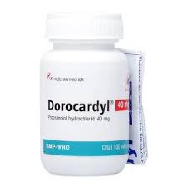 Dorocardyl 40mg Chai/100 viên DMC
