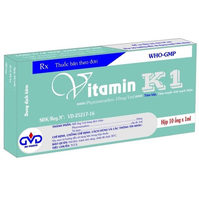 Vitamin K1 10mg/1ml H/10 ống cầm máu