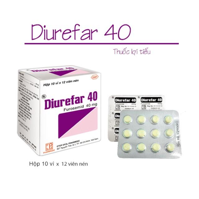 DIUREFAR 40 mg h/120v