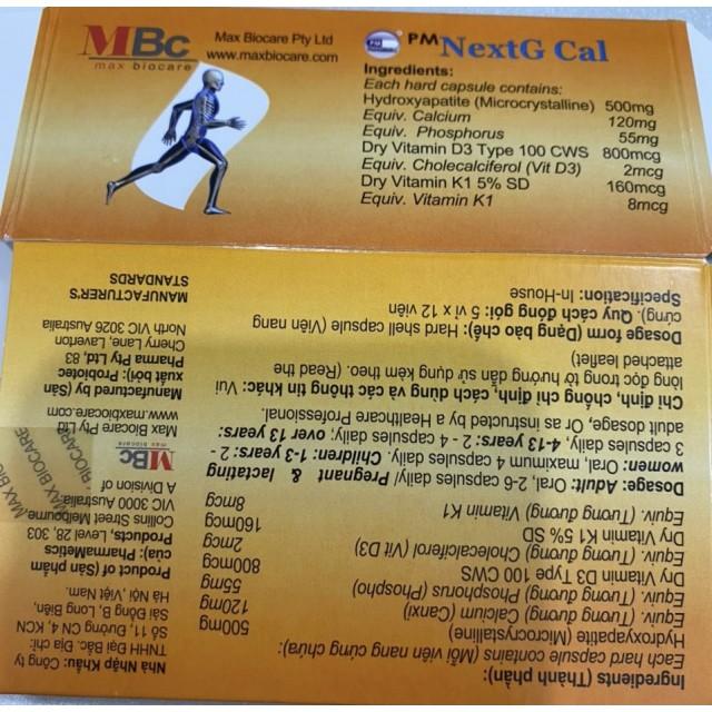 NextG Cal H/ 60 viên (Thuốc bổ sung canxi)
