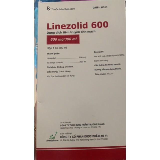Linezolid 600 truyền H/1 túi 300 ml