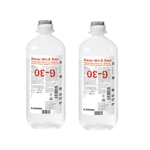 Glucose 30% 500 ml truyền Thùng 10 chai