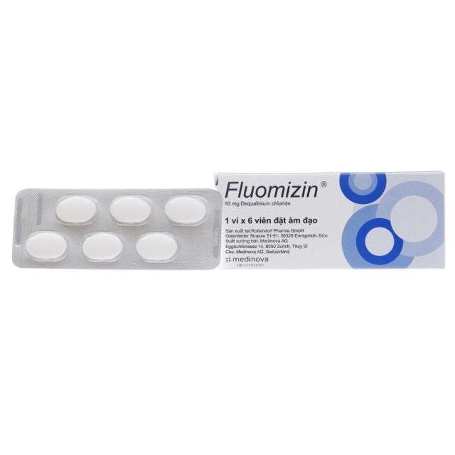 Fluomizin 10 mg H/6 viên đặt âm đạo trị nấm, nhiễm khuẩn