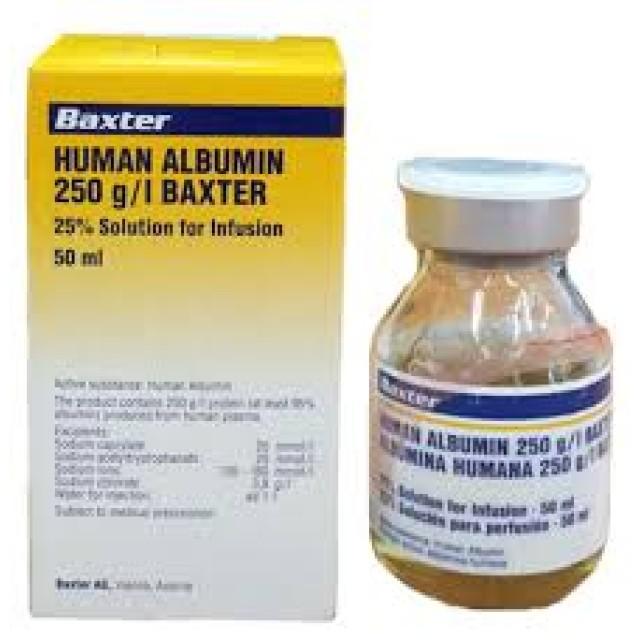 Human Albumin Baxter 250g/l Inf.50ml