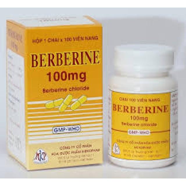 Berberine 100mg H/100 viên ( Thuốc trị tiêu chảy, kiết lỵ )