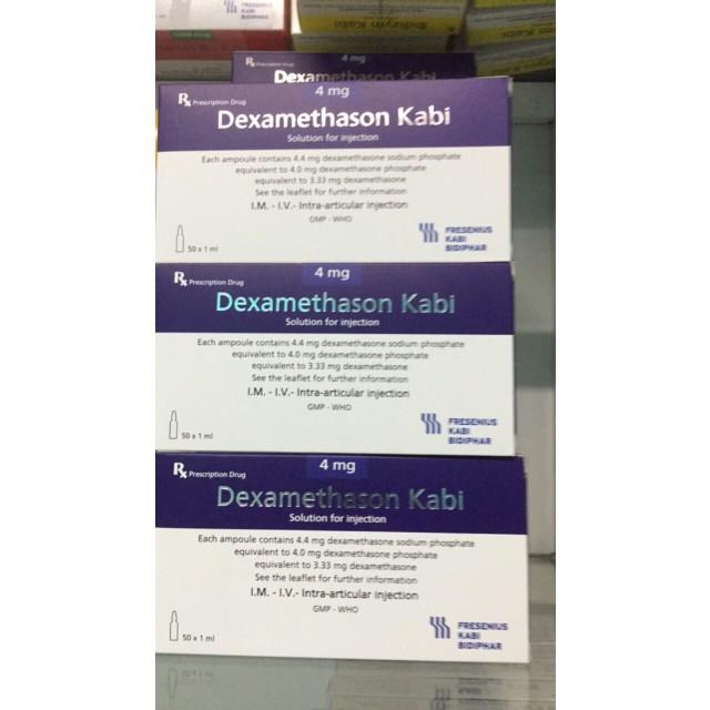 Dexamethasone 4mg/1ml Kabi Hộp 50 ống