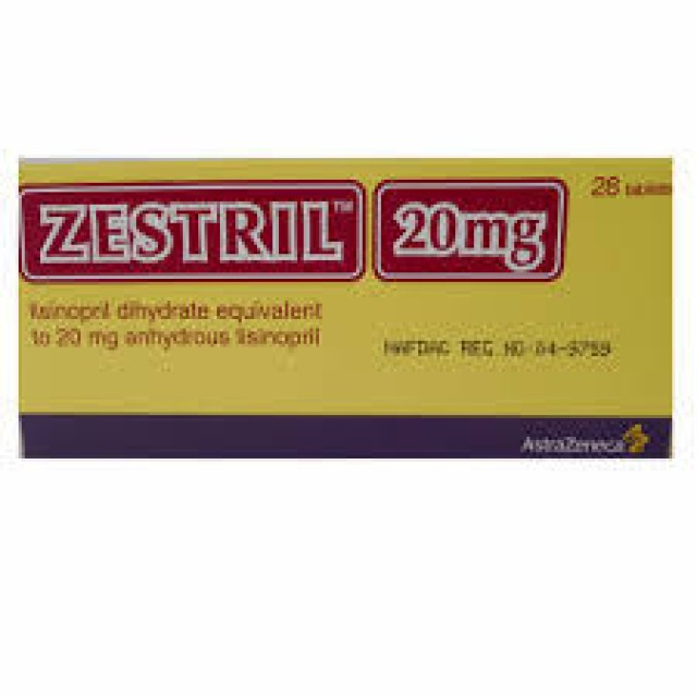 ZESTRIL 20 MG H/28 V
