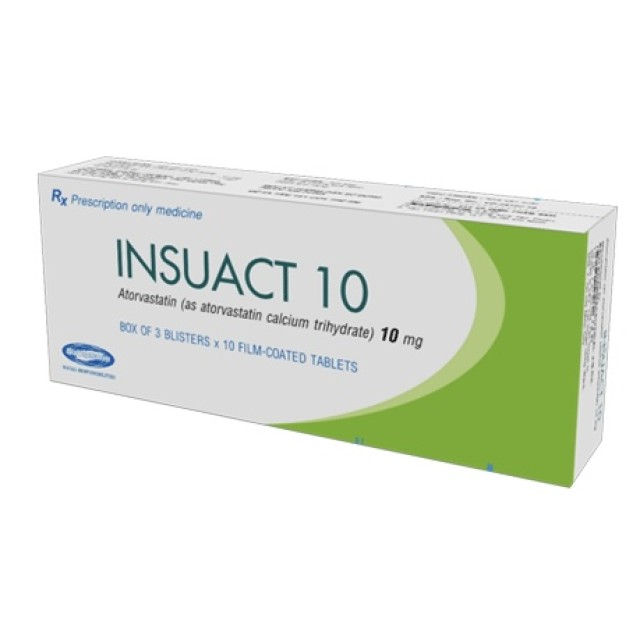 Insuact 10 mg H/30 viên