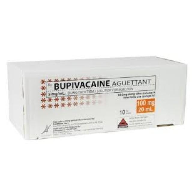 BUPIVACAINE AGUETTANT 5 mg/ ml  H/10 lọ