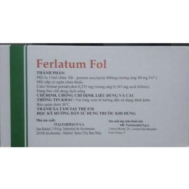 Ferlatum Fol H/10 ống uống 15 ml ( bổ sung sắt)