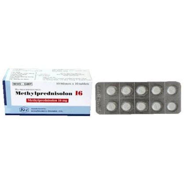 Methylprednisolon 16 mg H/100 v