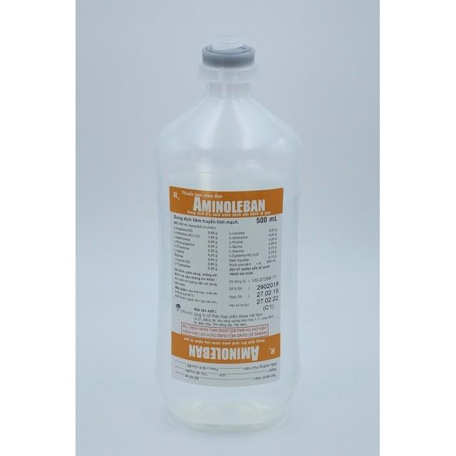Aminoleban 8% 500 ml dịch truyền Ótuka dùng cho bệnh nhân suy gan thùng 20 chai