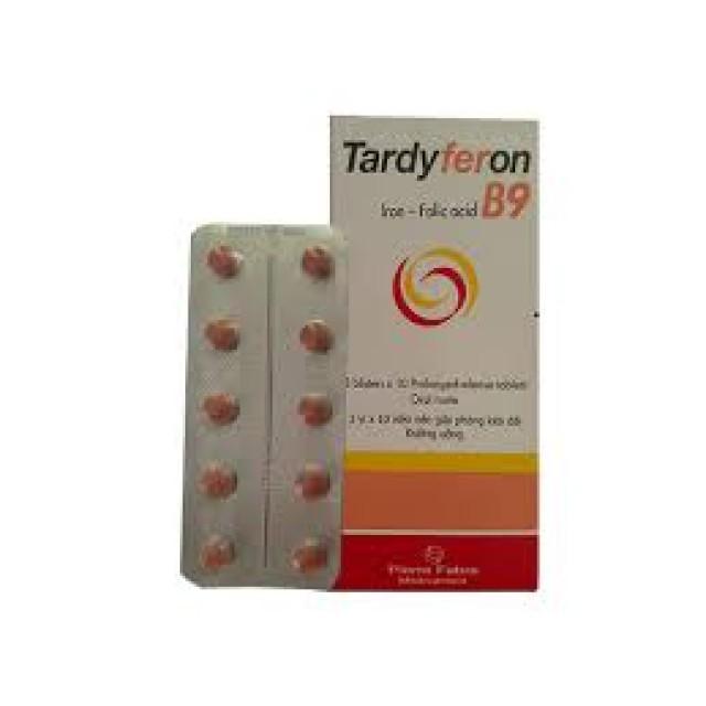 Tardyferon B9 H/30 viên ( Thuốc bổ sung sắt, acid folic)