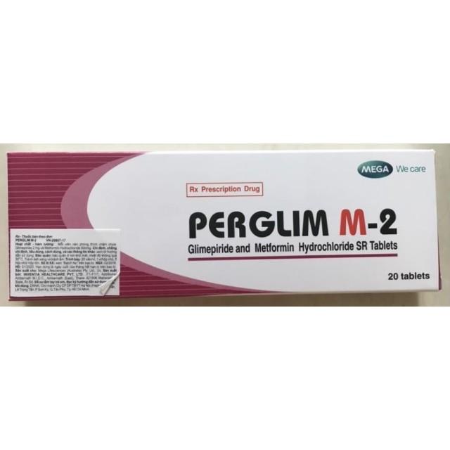 Perglim M-2 H/100 viên ( Thuốc điều trị bệnh tiểu đường type II)