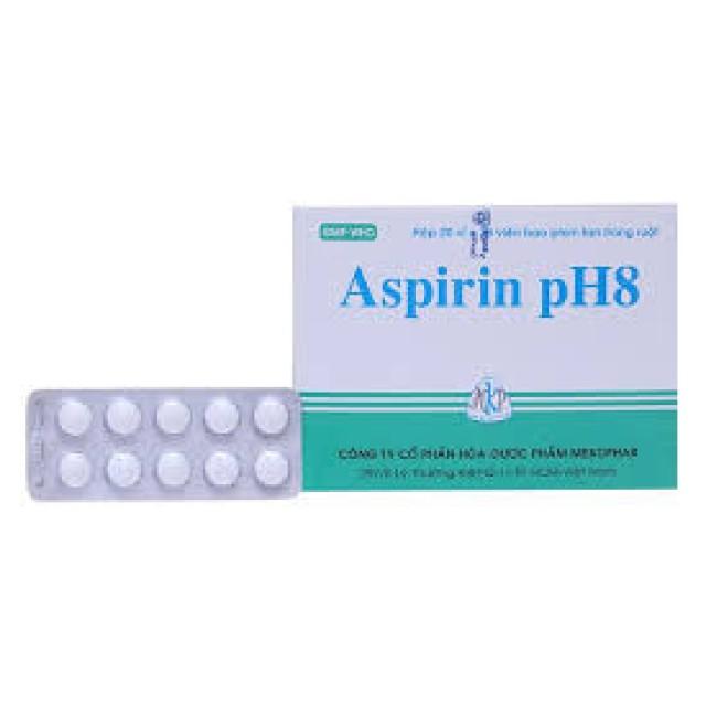 Aspirin pH8 500mg H/200 viên MKP( giảm đau, kháng viêm)