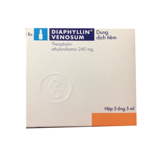 Diaphyllin 240 mg 5 ml Hộp 5 ống