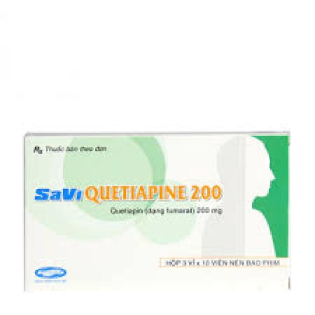 Quetiapine 200 mg H/30 viên