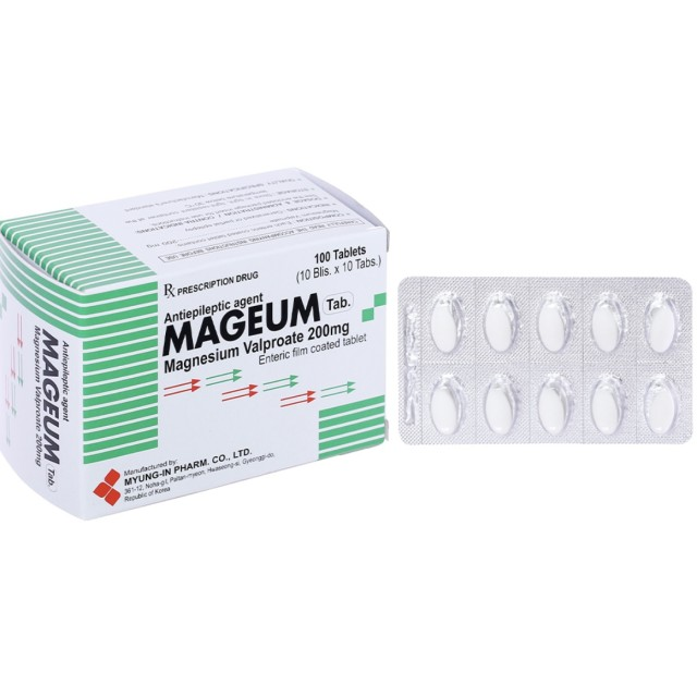 Mageum 200mg H/100 viên ( THUỐC TRỊ ĐỘNG KINH)