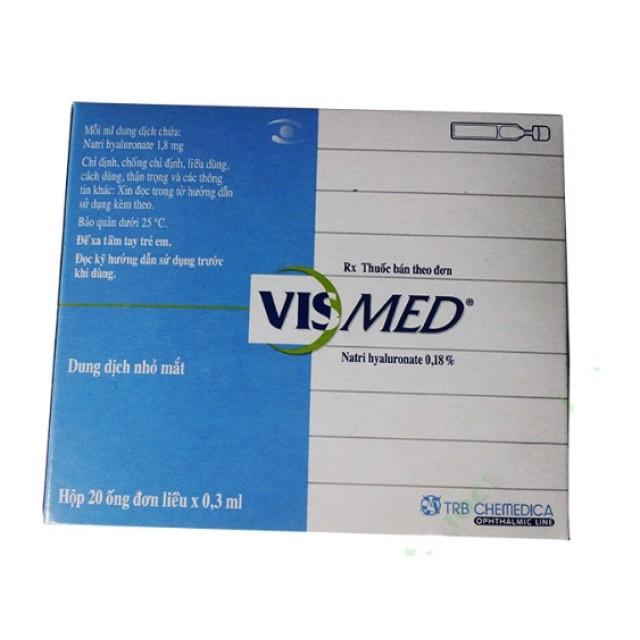 Thuốc nhỏ mắt VISMED 0.3ML