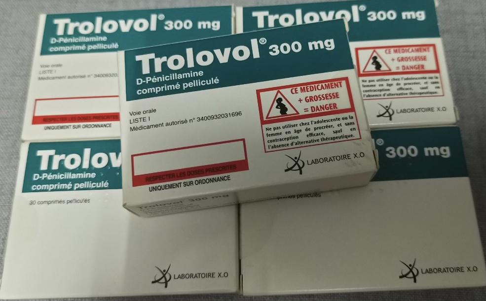 Trolovol 300mg H/30 viên ( điều trị bệnh viêm khớp dạng thấp và bệnh Wilson)