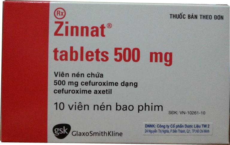 ZINNAT 500 mg ( h/10 v)