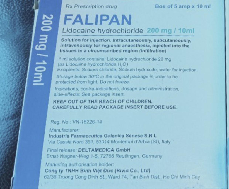 Falipan 200mg/10ml H/5 ống 10 ml