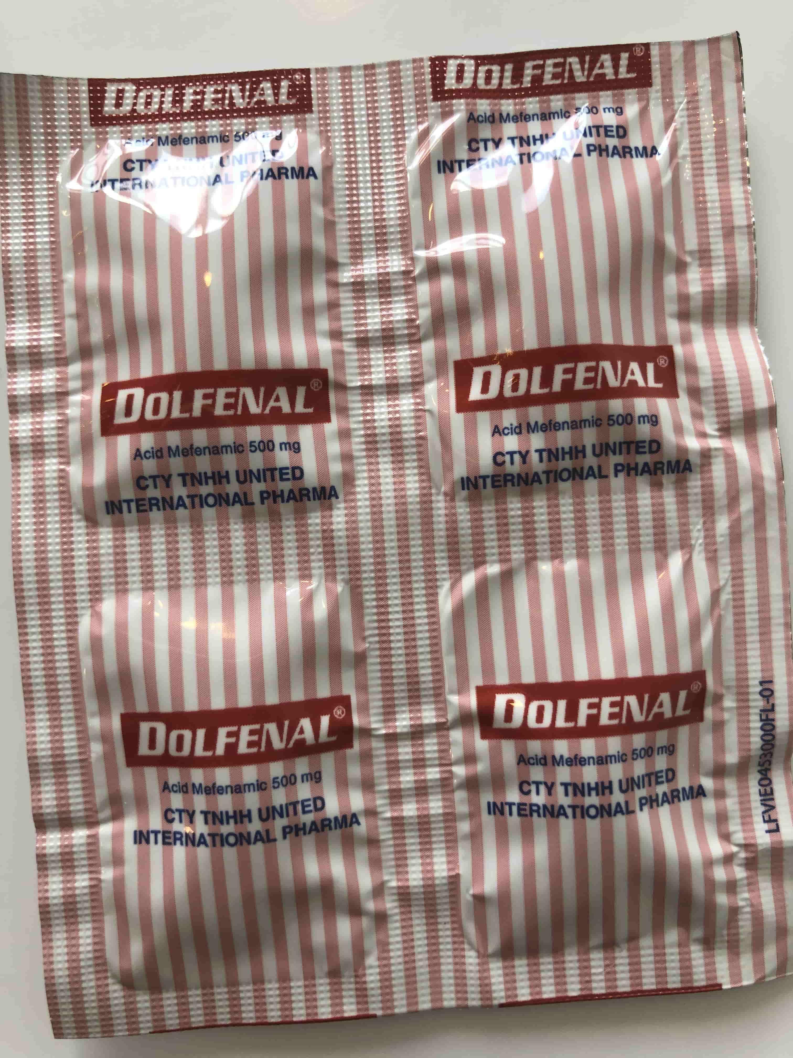 Dolfenal 500 mg H/100 viên giảm đau giống Ponstan