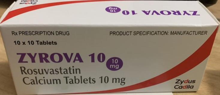 ZYROVA 10mg H/100 viên (trị rối loạn lipid máu)