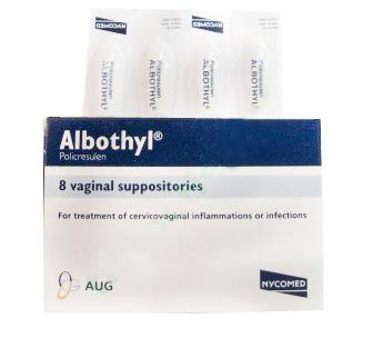 ALBOTHYL 90MG B/6 SUPP
