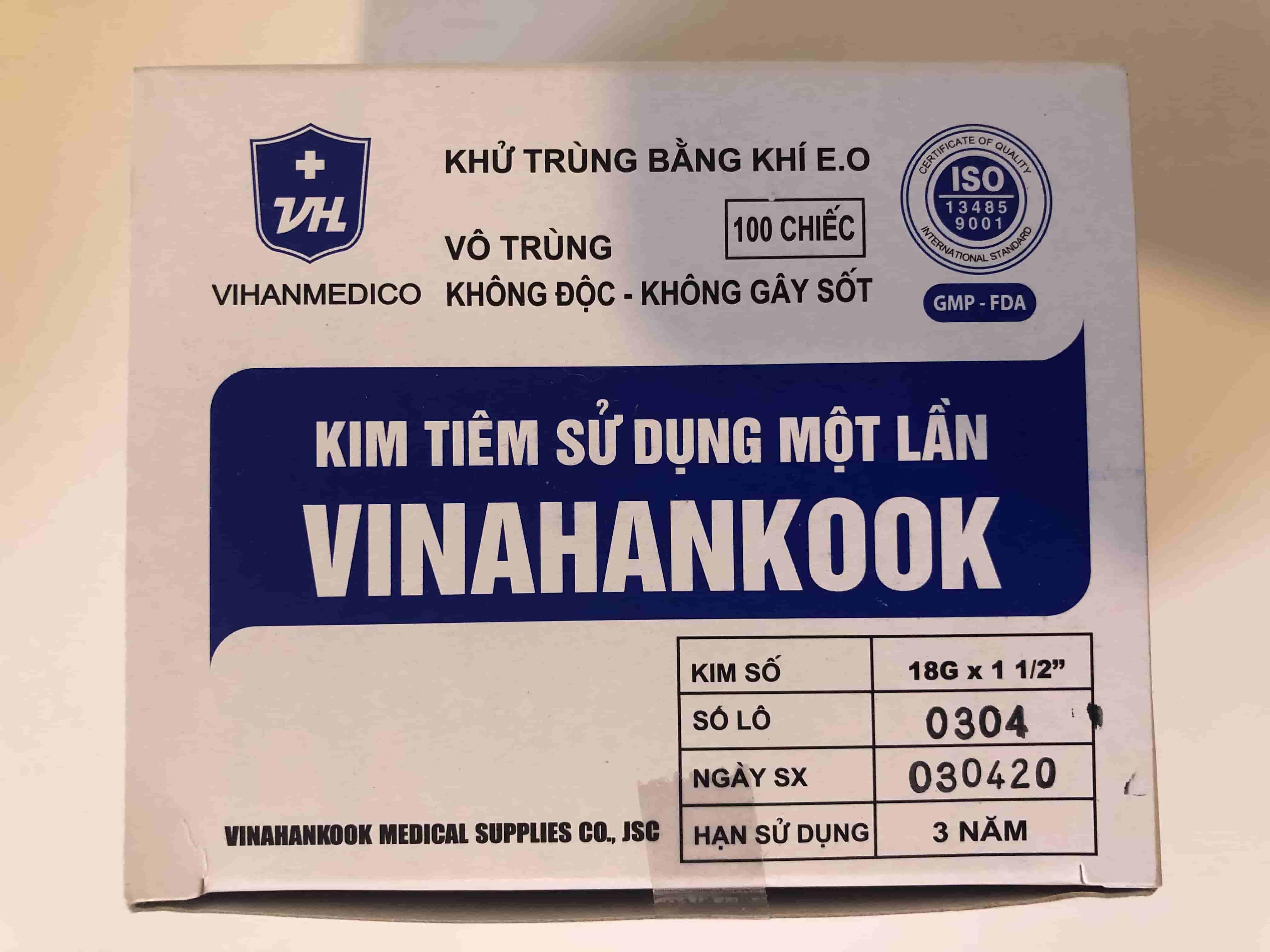 KIM TIÊM 18G H/100 CÂY