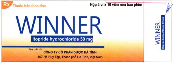 Winner 50 mg H/30 viên ( kháng viêm, chống nôn)